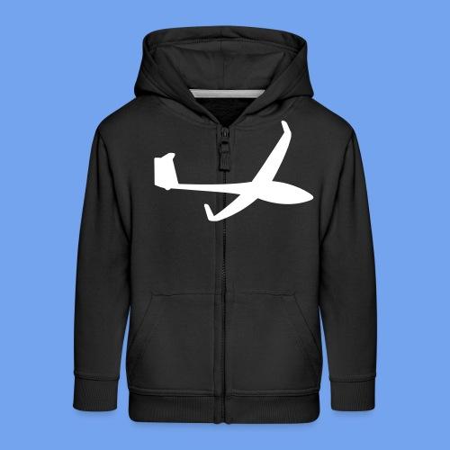 Segelflugzeug Segelflieger ASG gleiten Geschenk - Kinder Premium Kapuzenjacke