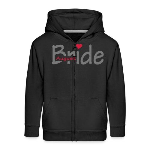August Bride (wedding, Honeymoon) - Kids' Premium Zip Hoodie