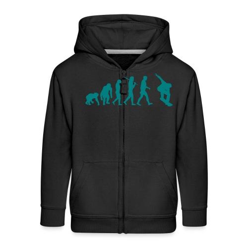 evolution_of_snowboarding - Kinderen Premium jas met capuchon