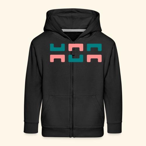 Hoa original logo v2 - Kids' Premium Zip Hoodie