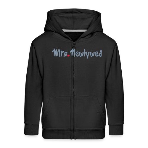 Mrs Newlywed - Kids' Premium Zip Hoodie