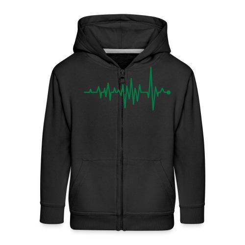 Kurve Herzschlag Rhythmus Oszillograph Puls EKG - Kids' Premium Zip Hoodie