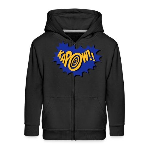 kapow - Kids' Premium Zip Hoodie