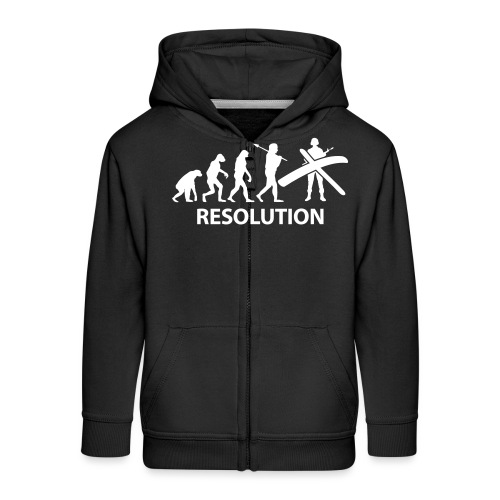Resolution Evolution Army - Kids' Premium Zip Hoodie
