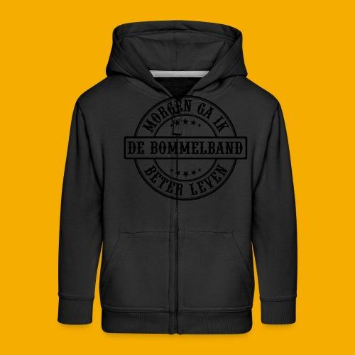 bb logo rond 2 - Kinderen Premium jas met capuchon