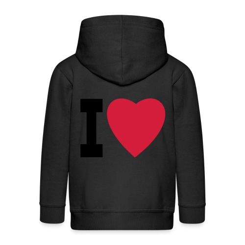 create your own I LOVE clothing and stuff - Kids' Premium Zip Hoodie