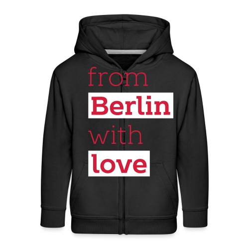From Berlin with Love - Kinder Premium Kapuzenjacke