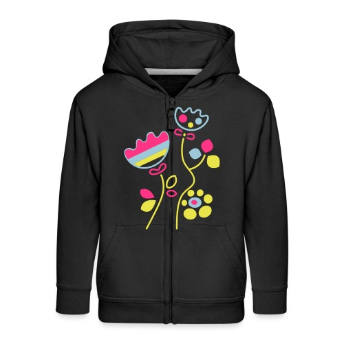 tulipani - Felpa con zip Premium per bambini