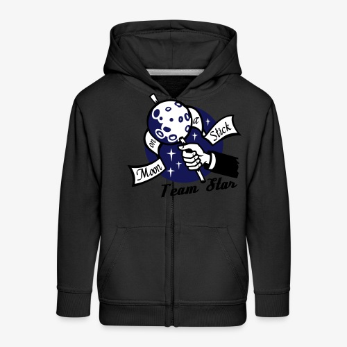 Moon on a Stick - Team Star - Kids' Premium Zip Hoodie