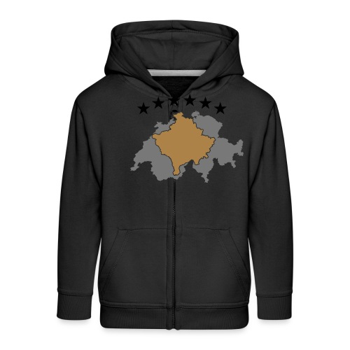 Kosovo Schweiz - Kinder Premium Kapuzenjacke