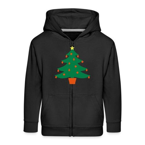 Christmas Tree - Kids' Premium Zip Hoodie