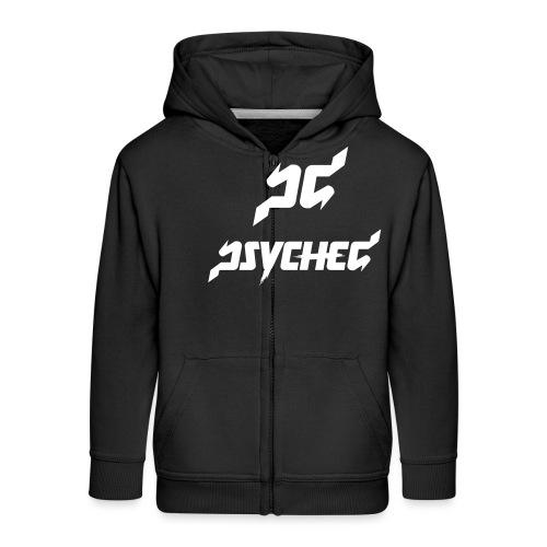 psyched-logo-finalwhite - Kinderen Premium jas met capuchon