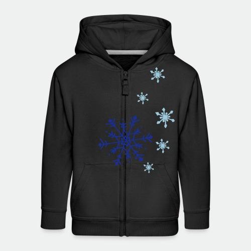 Snowflakes falling - Kids' Premium Zip Hoodie
