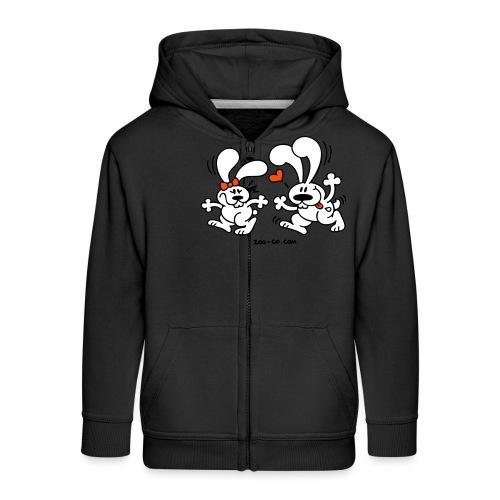 Hot Bunnies - Kids' Premium Zip Hoodie