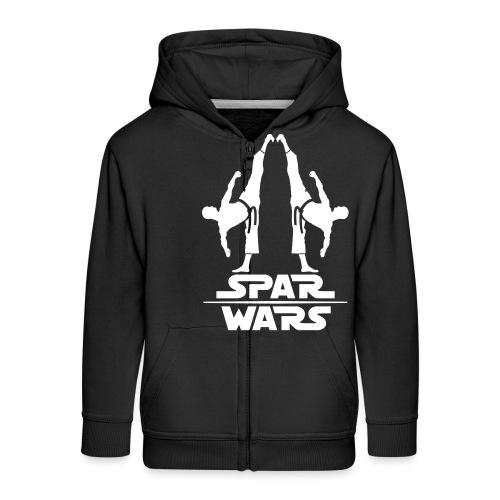 Spar Wars Martial Art - Kids' Premium Zip Hoodie