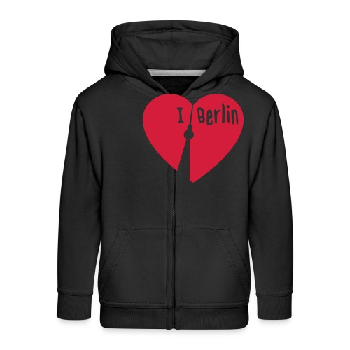 I love Berlin (1-farbig) - Kinder Premium Kapuzenjacke