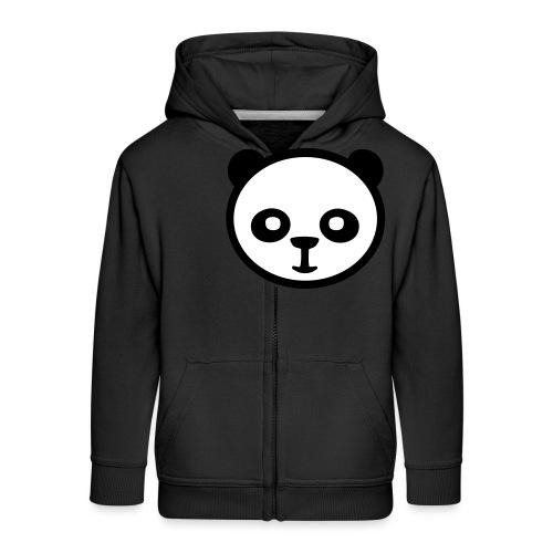 Panda, Giant Panda, Giant Panda, Bamboo Bear - Rozpinana bluza dziecięca z kapturem Premium