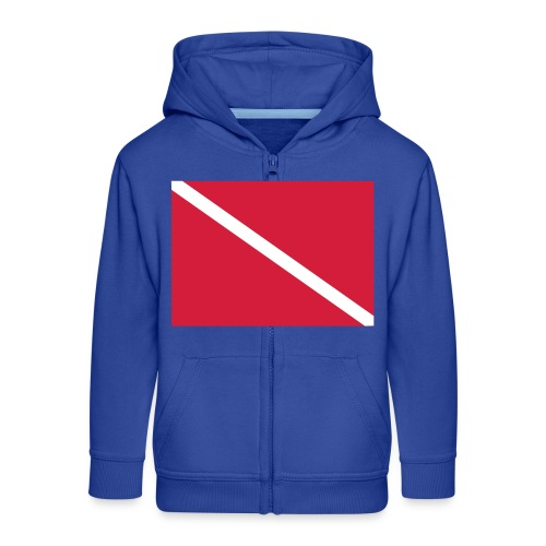Diver Flag - Kids' Premium Zip Hoodie