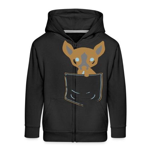 Pocket Puppy - Kids' Premium Zip Hoodie