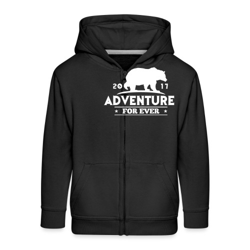 ADVENTURE FOR EVER - GRIZZLY - Felpa con zip Premium per bambini
