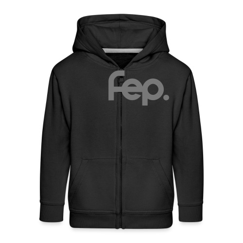 FEP logo gray - Kids' Premium Zip Hoodie