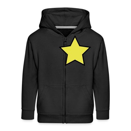 Star - Stjerne - Kids' Premium Zip Hoodie