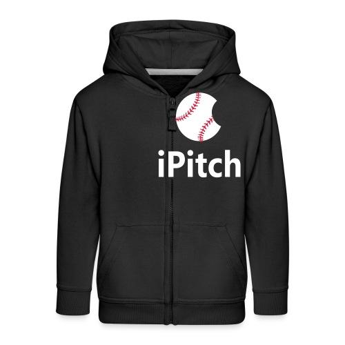 Baseball Logo iPitch - Kids' Premium Zip Hoodie