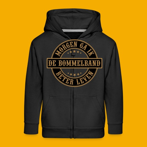 bb logo rond shirt - Kinderen Premium jas met capuchon