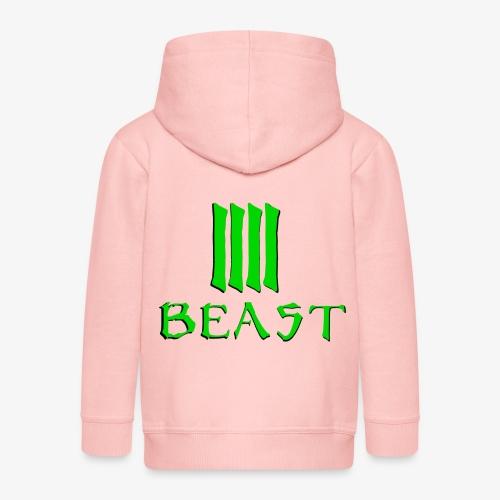 Beast Green - Kids' Premium Zip Hoodie