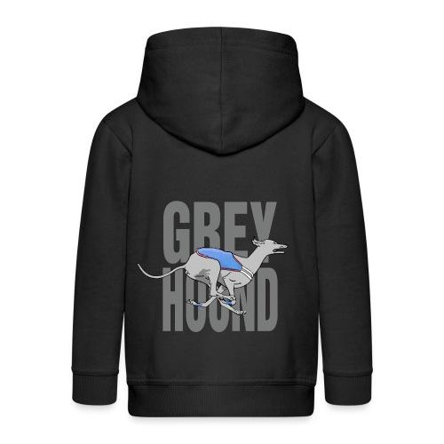 Greyhound PVL gris fonçé - Veste à capuche Premium Enfant