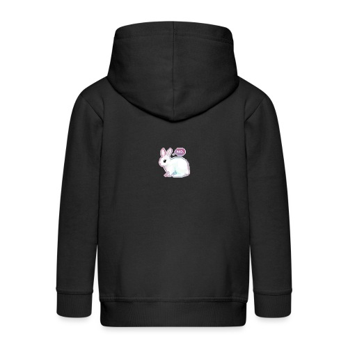 the bunny said no - Kids' Premium Zip Hoodie