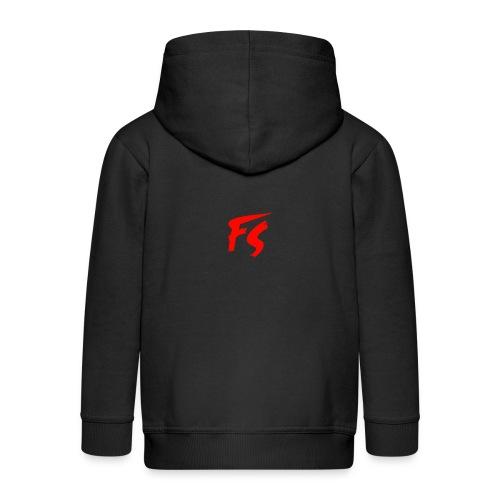 FS Logo rood - Kinderen Premium jas met capuchon