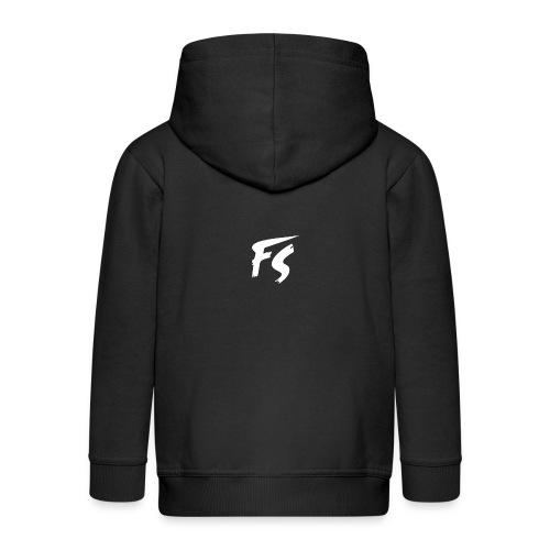 FS Logo wit - Kinderen Premium jas met capuchon
