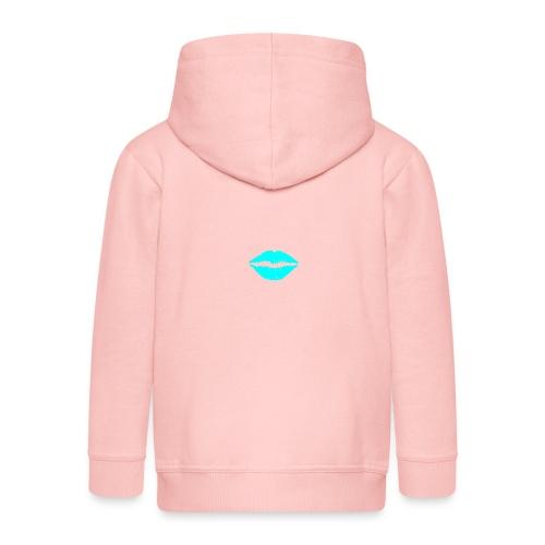 Blue kiss - Kids' Premium Zip Hoodie