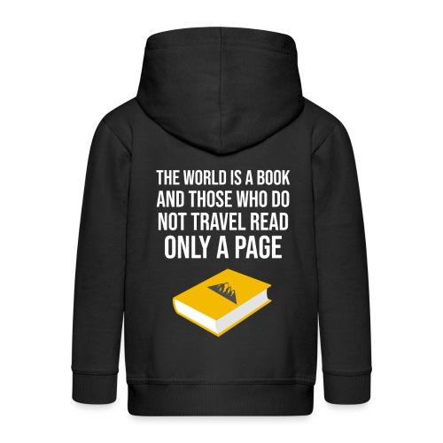 Reisen Weltreise Travelshirt Buch - Kinder Premium Kapuzenjacke