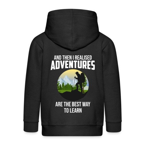Reisen Weltreise Flugzeug Travelshirt Abenteuer - Kinder Premium Kapuzenjacke