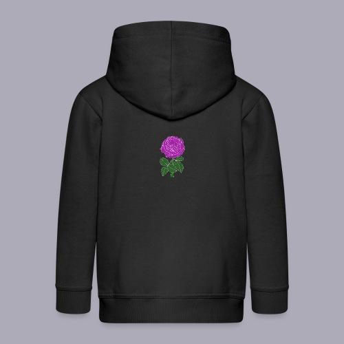 Landryn Design - Pink rose - Kids' Premium Zip Hoodie
