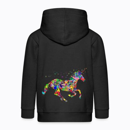 unicorn colorful - Kids' Premium Zip Hoodie