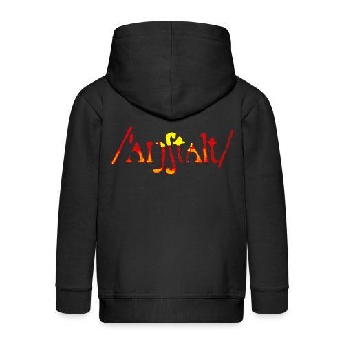 /'angstalt/ logo gerastert (flamme) - Kinder Premium Kapuzenjacke
