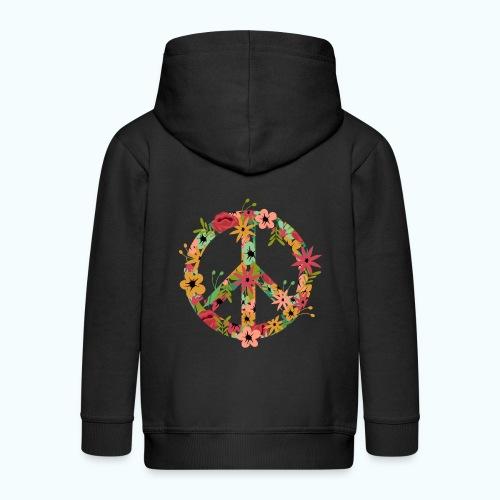 Peace Hippie Flower Power - Kids' Premium Zip Hoodie
