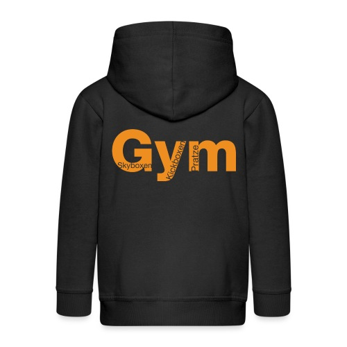 Gym orange - Kinder Premium Kapuzenjacke