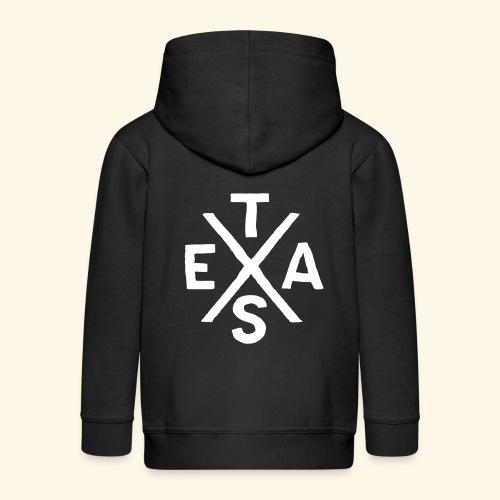 Cooles Texas Brandzeichen Souvenir USA Typografie - Kinder Premium Kapuzenjacke