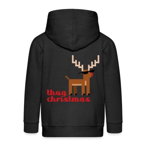 Rudolph the Red Nosed Reindeer Pixel - Kids' Premium Hooded Jacket