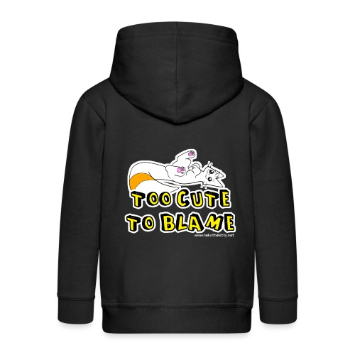 Too Cute To Blame - Kids' Premium Zip Hoodie