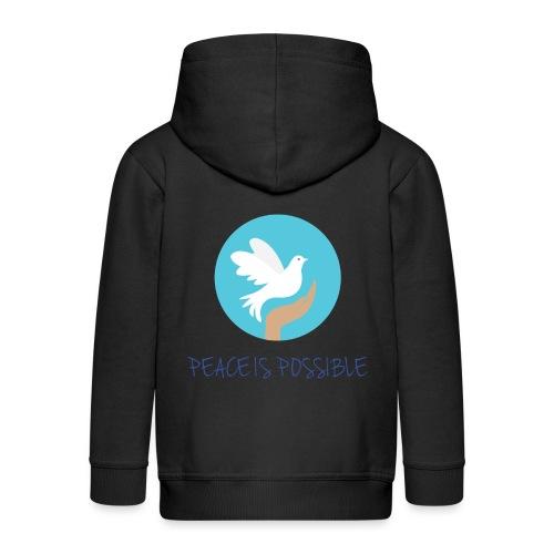 Peace is Possible - Kids' Premium Zip Hoodie