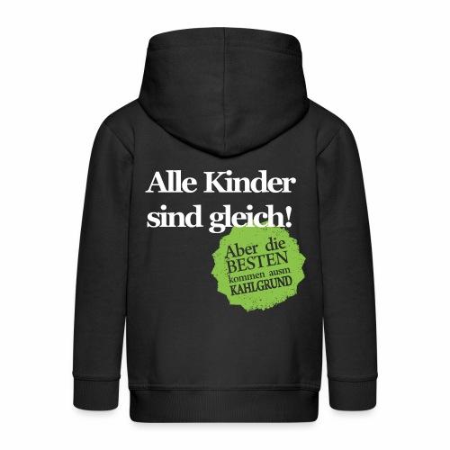 Kinder sind gleich, außer Kahlgründer - WEIß/GRÜN - Kinder Premium Kapuzenjacke