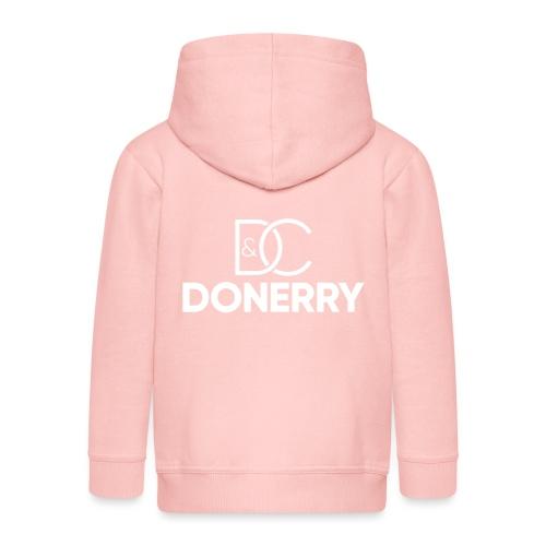 DONERRY New White Logo on Dark - Kids' Premium Hooded Jacket