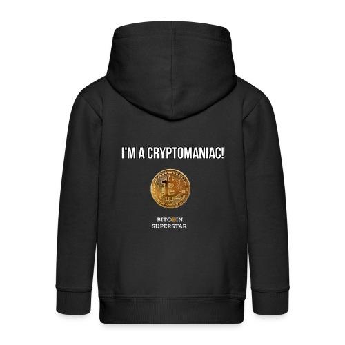I'm a cryptomaniac - Felpa con zip Premium per bambini