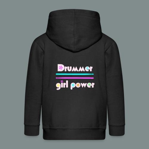 Drummer girlpower rose - idee cadeau batteur - Veste à capuche Premium Enfant