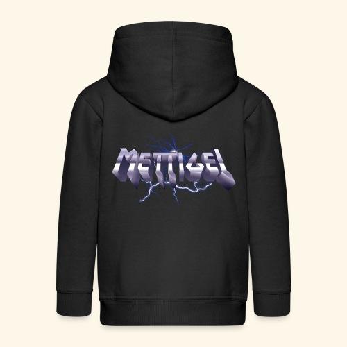 Mettigel T Shirt Design Heavy Metal Schriftzug - Kinder Premium Kapuzenjacke